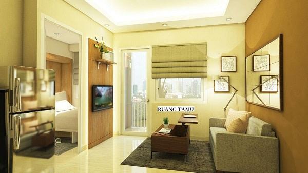 ruang tamu unit 2 kamar